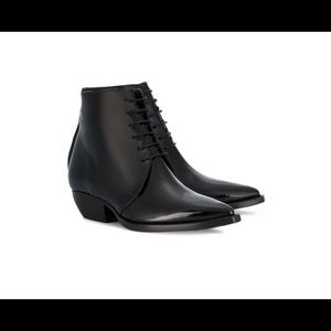 SAINT LAURENT Theo lace-up ankle boots
